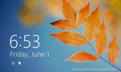 Windows 8 Lock Screen - mboir