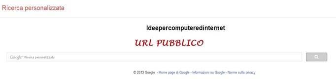 url-pubblico-motore-ricerca-personalizzato