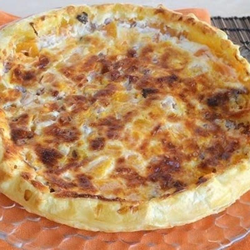 Πίτα κολοκύθας με μπέικον