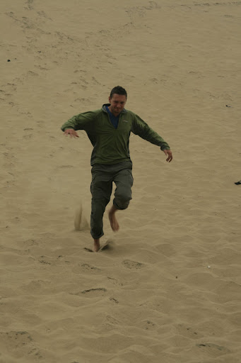 Attempting to sprint back down again resulted in a lot of forward rolls and lots of sand in pockets.