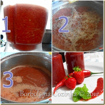 geleia diet de morango com pimenta