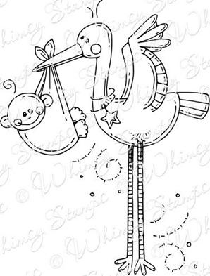 baby stork rubber