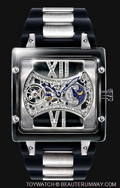Toywatch Skeleton Square Face Watch Italian luxury quartz