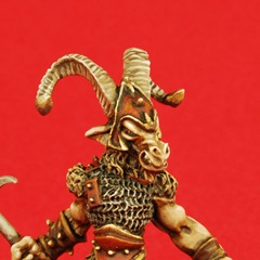 Beastman on Red Background