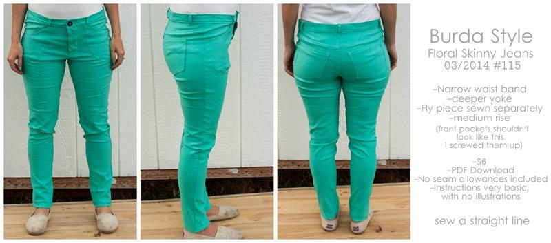 Womens Skinny Jeans Sewing Pattern Burda Skinny Jeans 1 Sew a