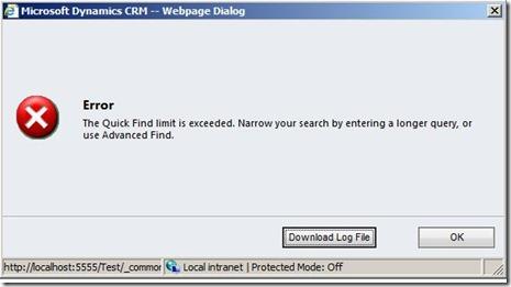 error quickfind