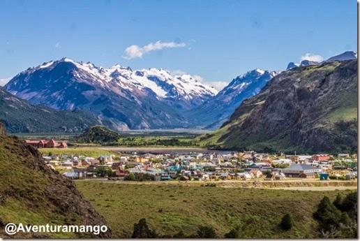 Vista da cidade de El Chaltén, Argentina