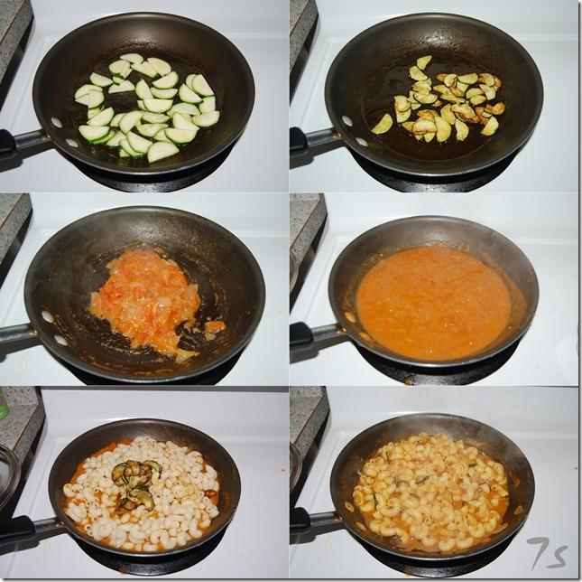 Zucchini pasta process
