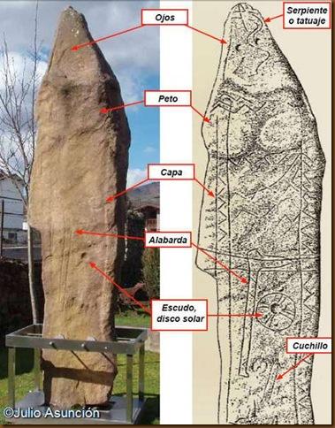 Menhir de Soalar y sus representaciones