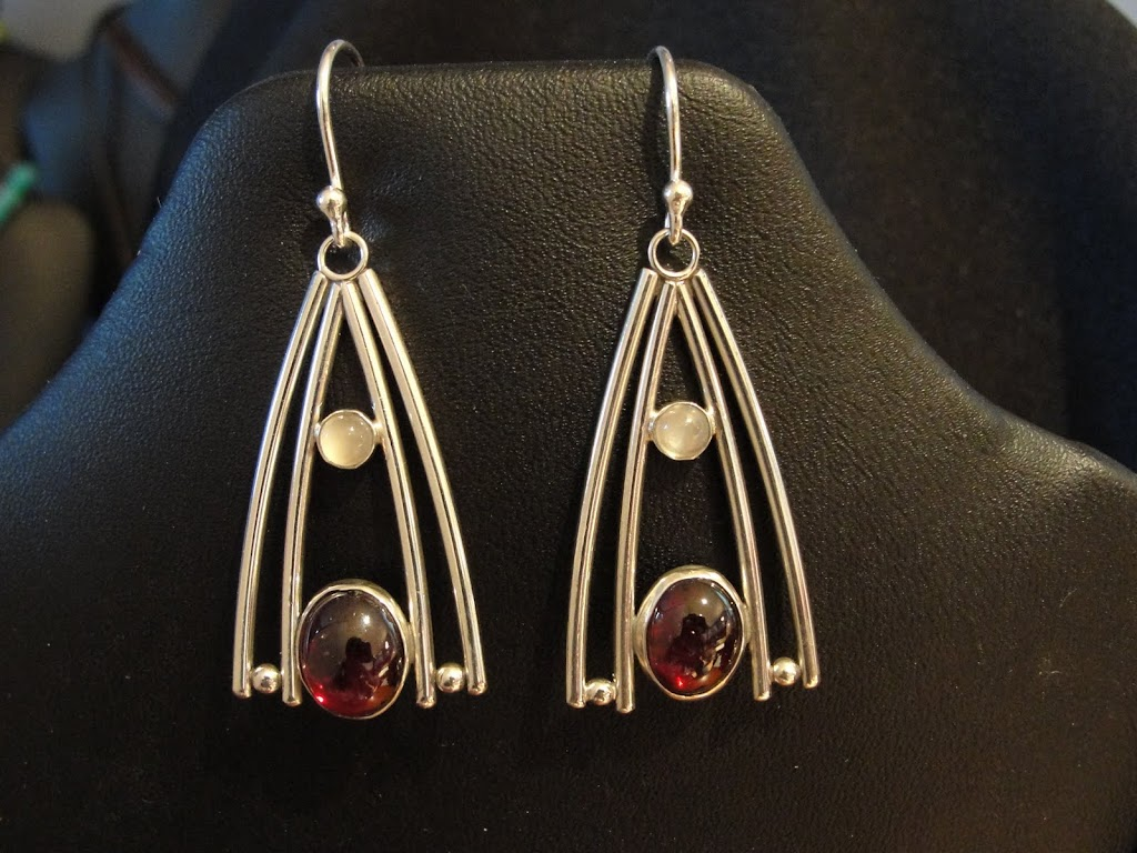Garnet & Moonstone Wishbones - Sold