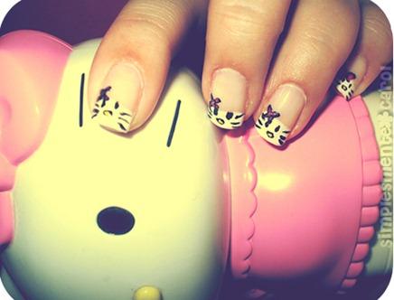 Unhas-Hello-Kitty-Como-fazer