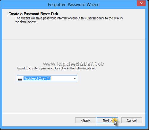 Password Reset Disk windows 8 -2