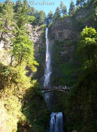 Double Waterfall with Bridge