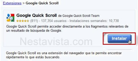 google quick scroll 1