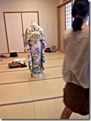 振袖の他装着付け練習 (2)