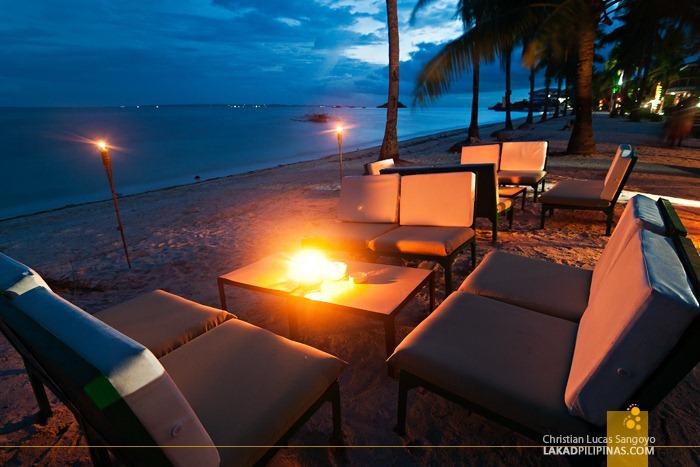 A Nice Table Set Up Along Malapascua's Bounty Beach