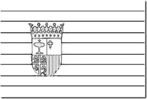 bandera aragon blogcolorear 1