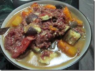 corned beef and veggies, 240baon