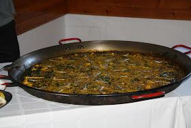 Comida. Degustación selección de arroces: Arròs amb bacallà i ceba, aladroc i espinacs i arròs a banda.