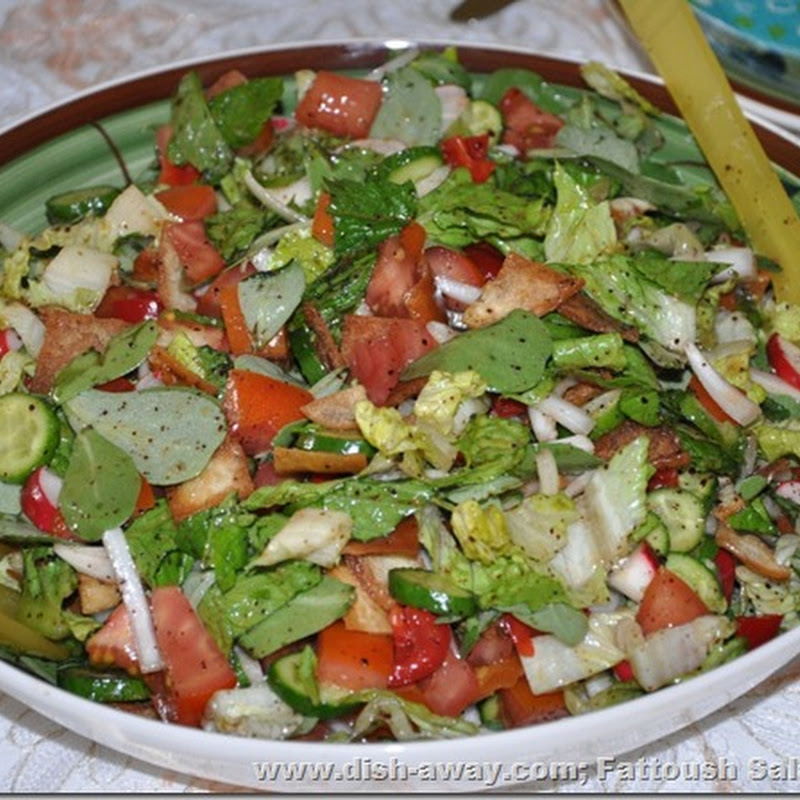 Fattoush salad recipe dish away forumfinder Images