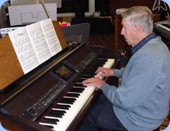 Michael Bramley playing the Clavinova