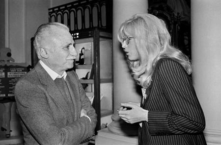 Monica Vitti con il regista Mario Monicelli nel 1980