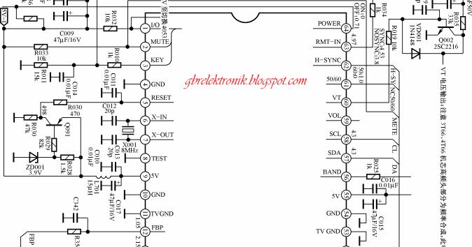 Gambar Skema IC TMP8873 untuk Tv Cina ~ GBR Elektronik