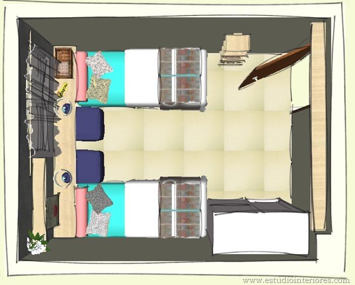 layout para quarto pequeno