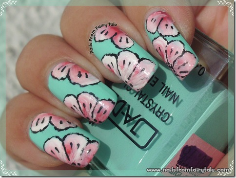 one stroke pink flowers 5