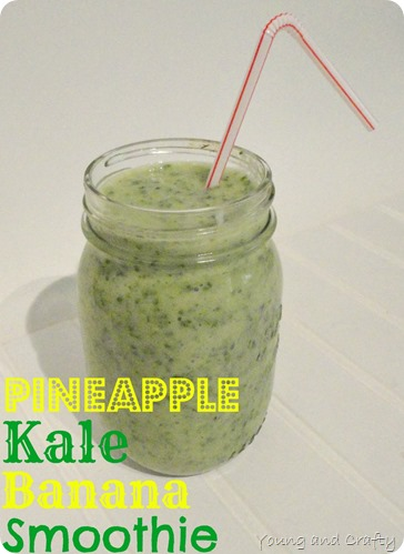 Pineapple Kale Banana Smoothie 1