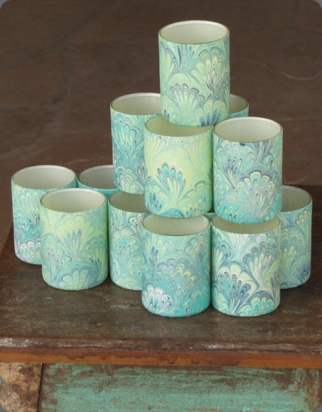 il_570xN.319141748 Italian marbled votives in peacock floral verde etsy