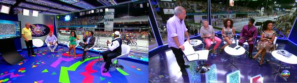 Estúdio Globeleza (cenário) - Foto: Reprodução/TV Globo