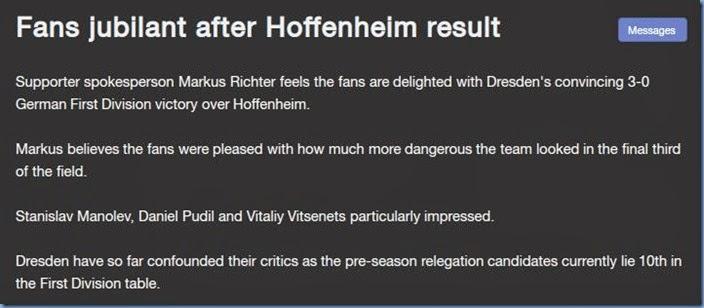 After Hoffenheim result
