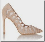 Karen Millen Mesh and Leather Court Shoe
