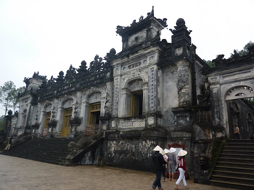 Thien Dinh palace is a marvel of French gothic architecture, an unexpected pleasure.