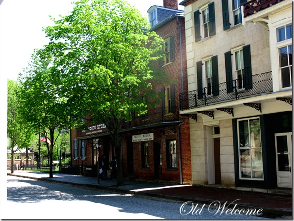 street scene harpers ferry wv old welcome