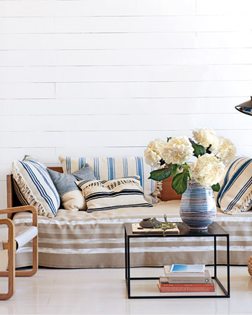 Stripes are one of the easiest patterns to place in your home. They also can provide a variety of looks -- rustic, refined, subtle, striking.