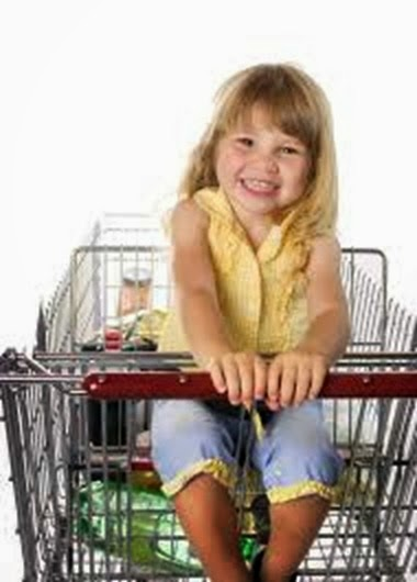 girl in cart