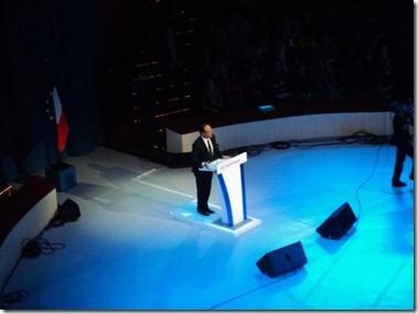 François Hollande, au Cirque d'Hiver.