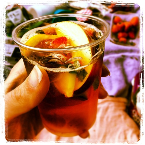 #168 - fruity Pimms and lemonade