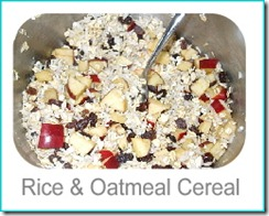 rice oatmeal cereal