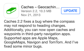 Caches version 2.2