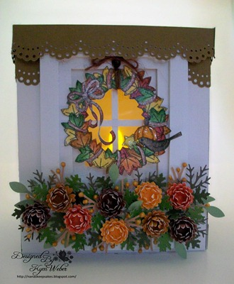 Fall Wreath Window Luminaria