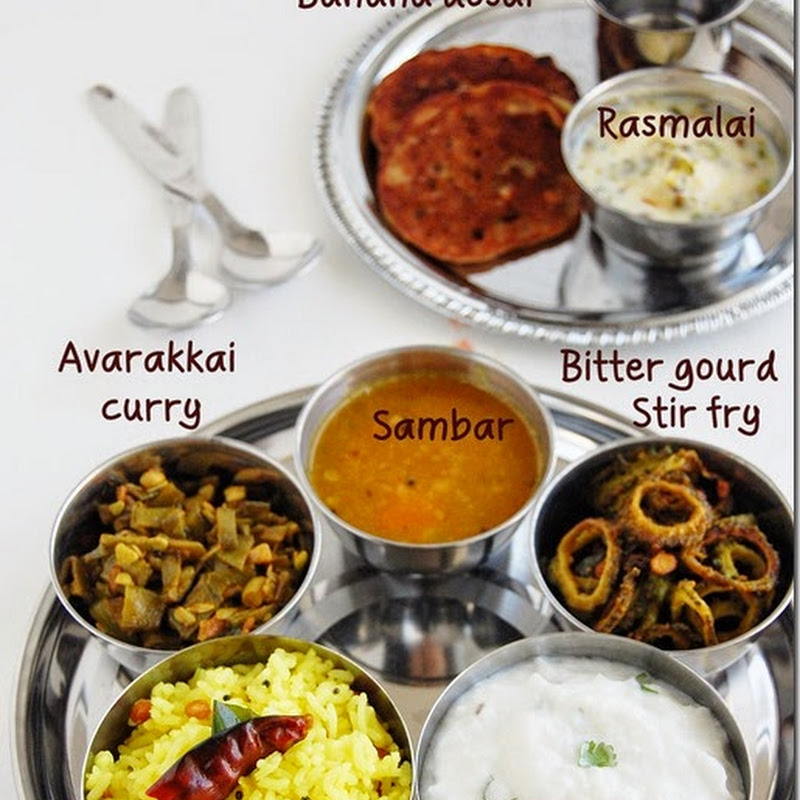 7s meals series - 7 ( South Indian variety lunch)