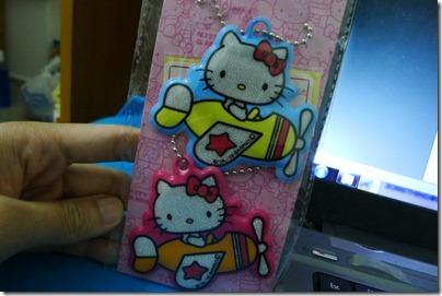 Hello Kitty glow in the dark keychains