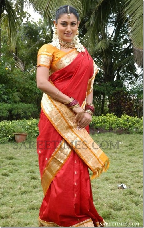 Malavika_Red_Saree