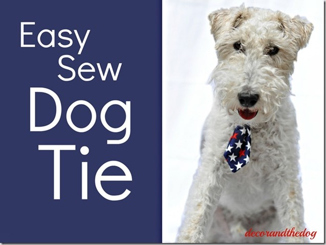 Easy Sew Dog Tie