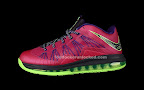 nike lebron 10 low gr purple neon green 4 02 Release Reminder: NIKE LEBRON X LOW Raspberry (579765 601)