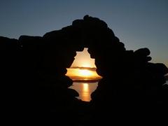 Sunset on Lake Titicaca from Isla Amantani.