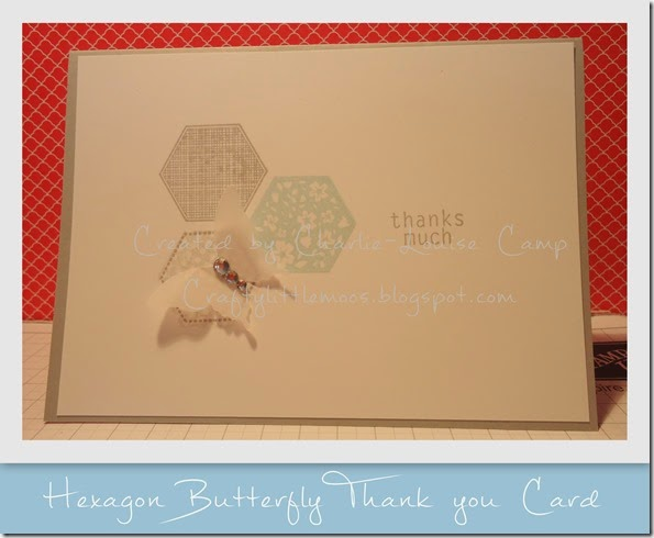 hexagon butterfly craftylittlemoo